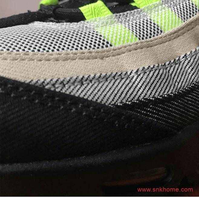 耐克MAX95元年配色联名款老爹鞋 DENHAM x Nike Air Max 95 耐克MAX95复刻升级版 货号:CU1644-001-潮流者之家