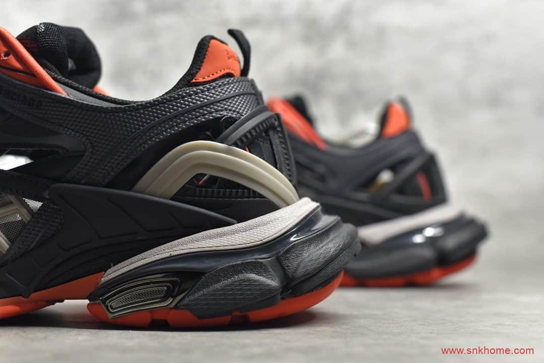 巴黎世家四代老爹鞋黑橙色 巴黎世家概念鞋BALENCIAGA Track 2 Sneakers