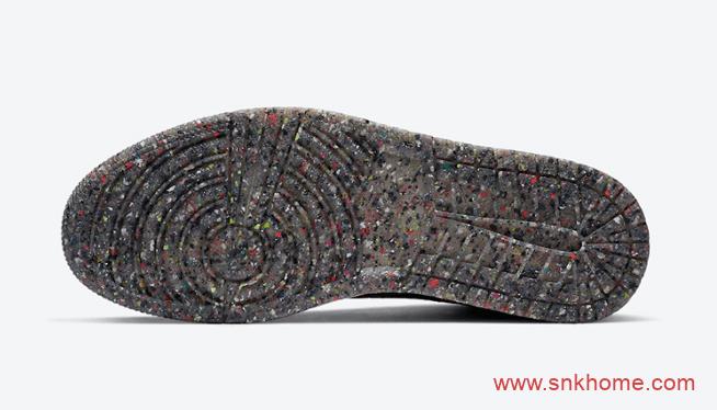 """可回收材料打造AJ1黑色ZOOM AJ1垃圾鞋 Air Jordan 1 High Zoom """"Crater""""发售日期 货号:CW2414-001-潮流者之家"""