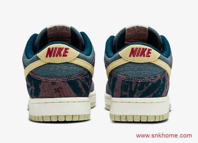 """耐克Dunk民族风低帮 Nike Dunk Low """"Community Garden"""" 耐克单宁材质鞋面 货号:CZ9747-900-潮流者之家"""