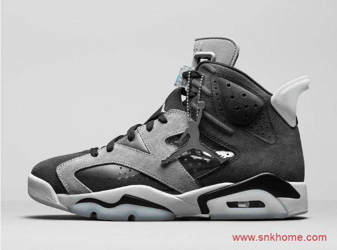"""很像AJ6 PSG大巴黎的一款AJ6黑灰配色登场 Air Jordan 6 WMNS """"Smoke Grey""""发售日期 货号:CK6635-001-潮流者之家"""