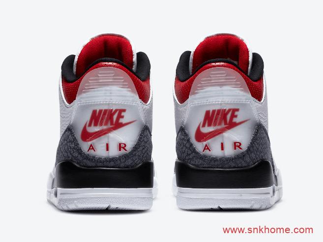 "Air Jordan 3 SE DNM ""Fire Red"" AJ3火焰红装扮AJ3白红爆裂纹已经发售 货号:CZ6431-100-潮流者之家"