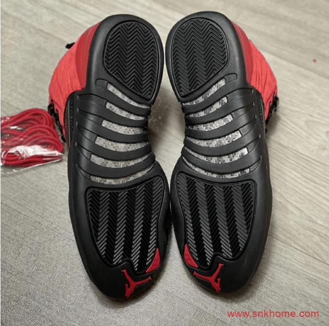"""反转黑红AJ12实物图 Air Jordan 12 """"Reverse Flu Game"""" AJ12病倒黑红球鞋发售日期 货号:CT8013-602-潮流者之家"""