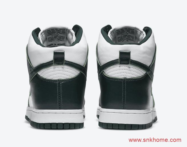 """元年配色耐克Dunk白墨绿高帮 Nike Dunk High """"Spartan Green""""发售日期 货号:CZ8149-100-潮流者之家"""