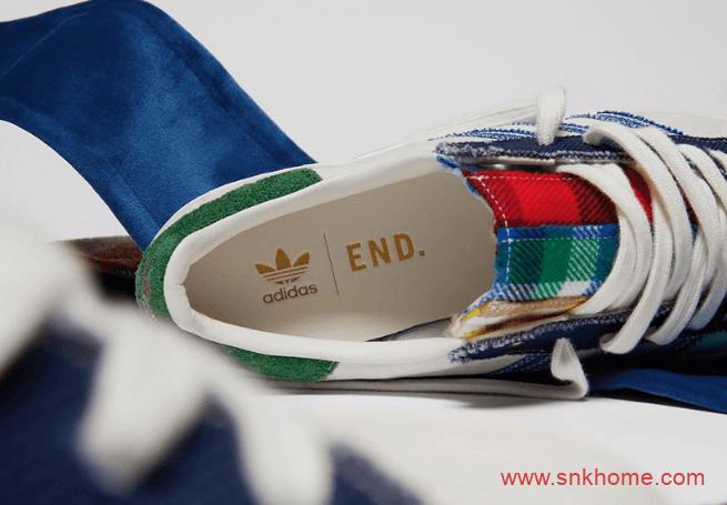 """贝壳头鸳鸯拼布 阿迪达斯END联名款 END x adidas Superstar """"Alternative Luxury""""发售日期 货号:FX0586-潮流者之家"""