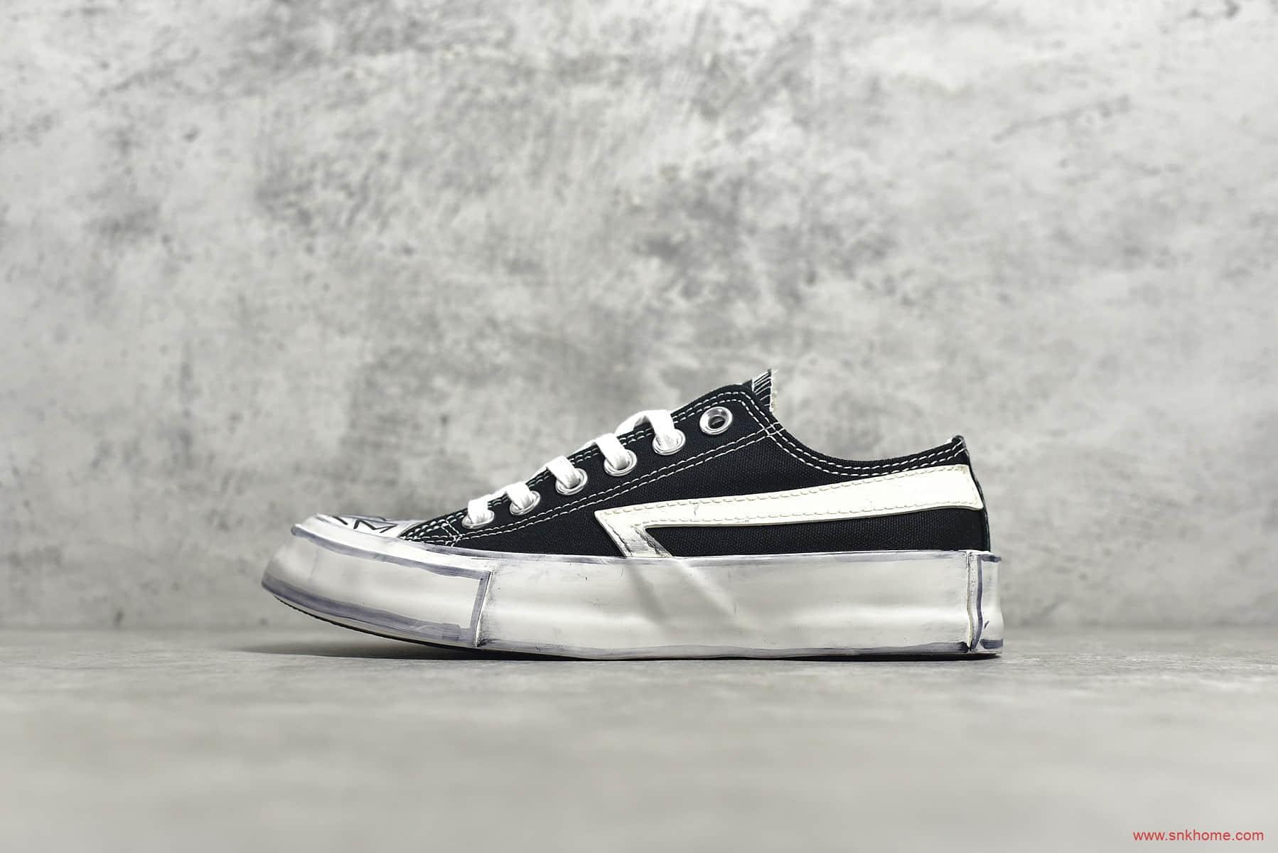 小红书INS爆款匡威黑色低帮复古帆布鞋 Converse&SMFK流浪纪念鞋 S0012B-潮流者之家