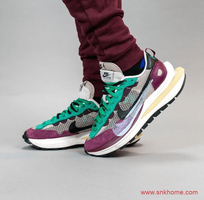 耐克Sacai联名款走秀鞋上脚图 sacai x Nike VaporWaffle发售日期 货号:DD3035-200-潮流者之家
