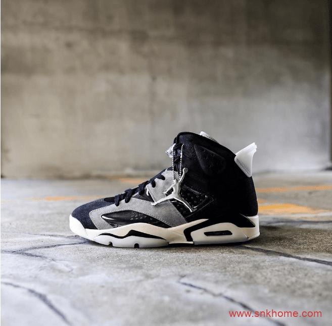 """Air Jordan 6 WMNS """"Smoke Grey"""" AJ6透明底黑灰麂皮新款发售日期 货号:CK6635-001-潮流者之家"""
