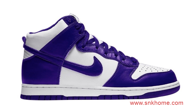 "Nike Dunk High WMNS ""Varsity Purple"" 耐克Dunk白紫高帮经典复刻 货号:DC5382-100-潮流者之家"