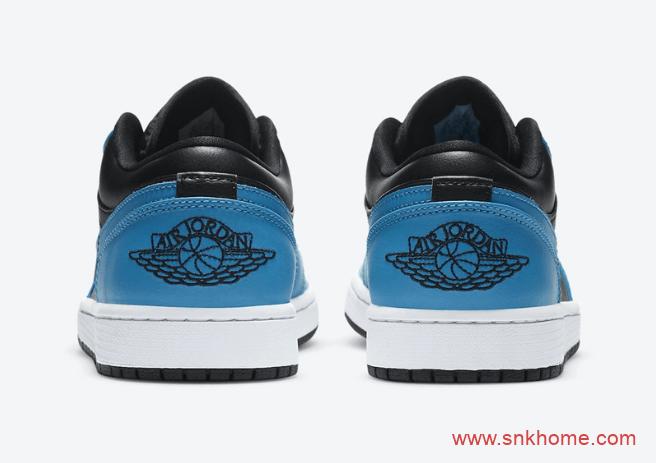 "Air Jordan 1 Low ""Laser Blue"" 黑蓝AJ低帮 AJ1 OG激光蓝全新配色 货号:553558-410-潮流者之家"