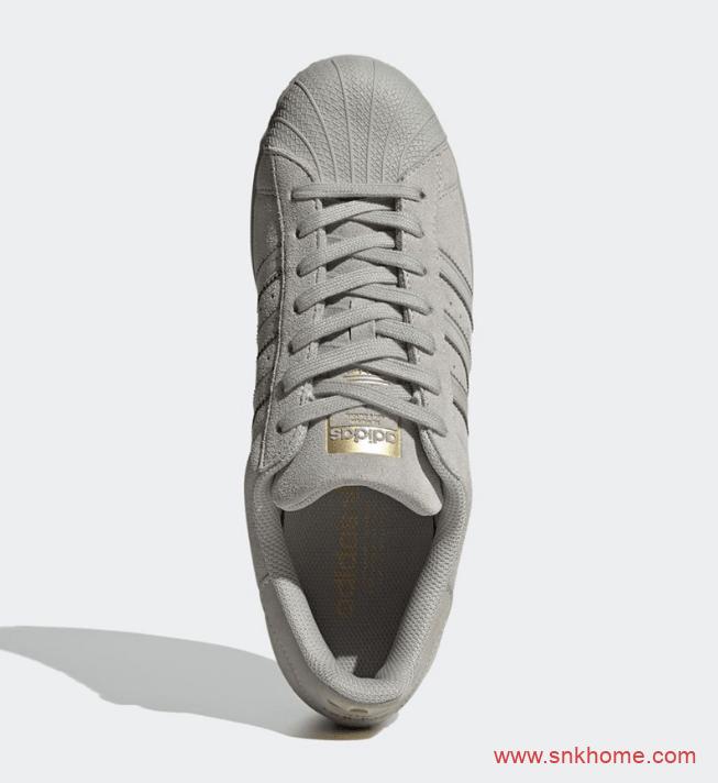贝壳头五十周年纪念款 adidas Superstar 阿迪达斯贝壳头灰色麂皮官图释出 货号:FY2321-潮流者之家