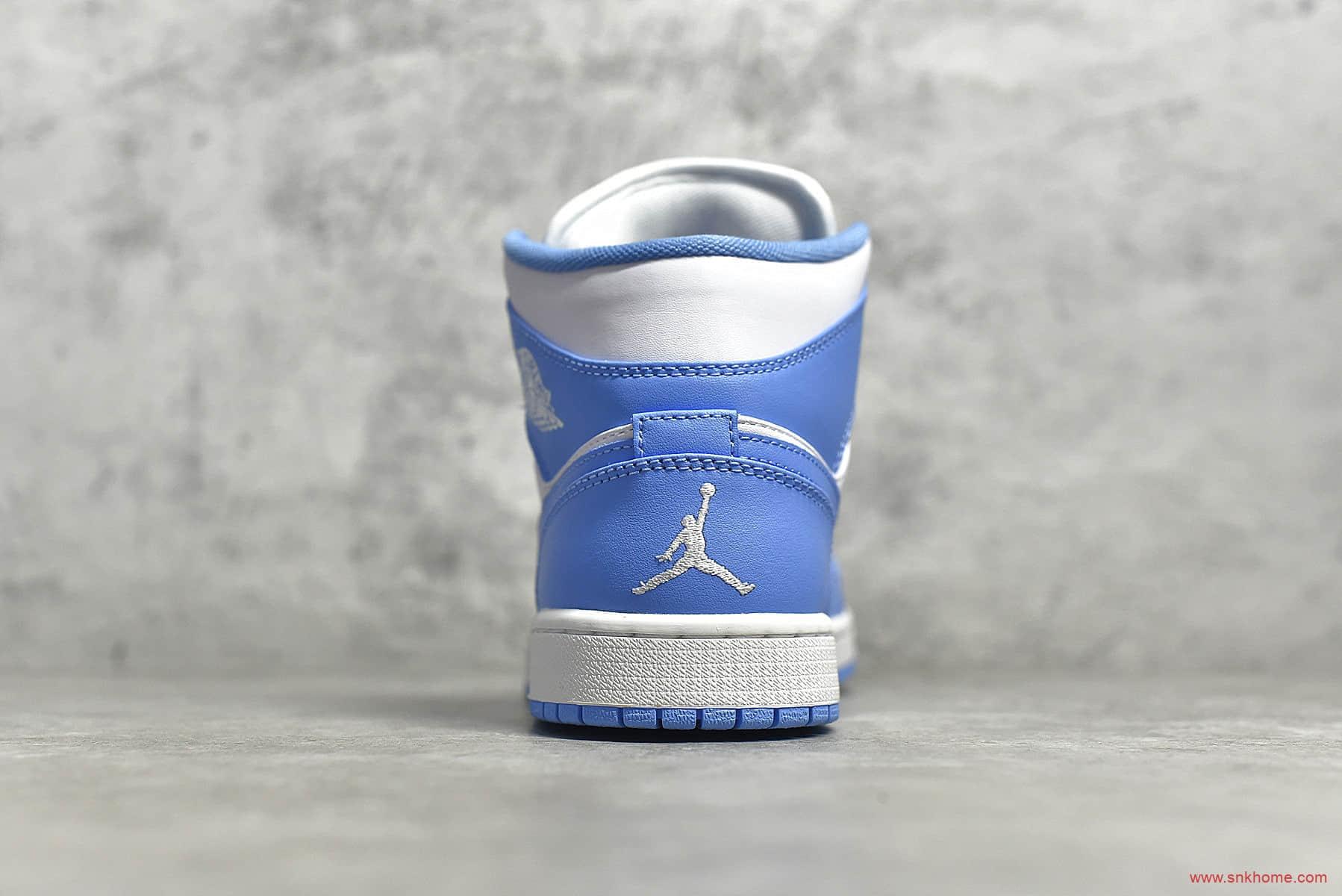 Air Jordan 1 MiD 纯原版本AJ1北卡蓝 AJ1白蓝中帮莆田工厂实拍图 货号:554724-106-潮流者之家