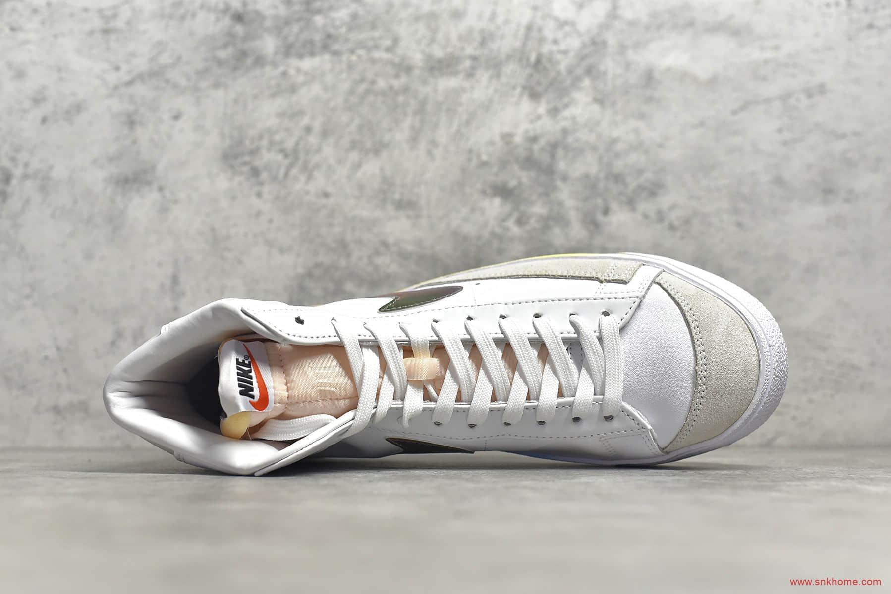 耐克开拓者七彩底高帮板鞋 NIKE W Blazer Mid Vintage Suede 开拓者头层牛皮高帮耐克休闲鞋 货号:CZ8653-136-潮流者之家