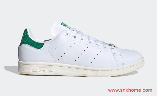 史密斯绿尾碎钻 Swarovski x adidas Stan Smith 阿迪达斯史密斯施华洛世奇联名 货号: FX7482-潮流者之家