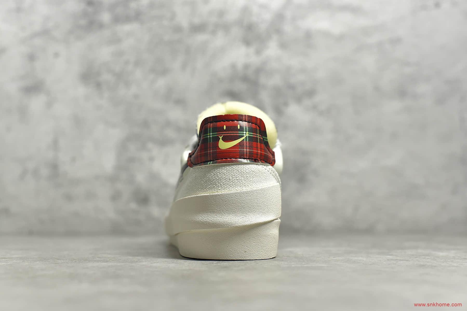 耐克开拓者解构低帮板鞋 NIKE Drop Type LX 开拓者硫化小白鞋 货号:CW2620-101-潮流者之家