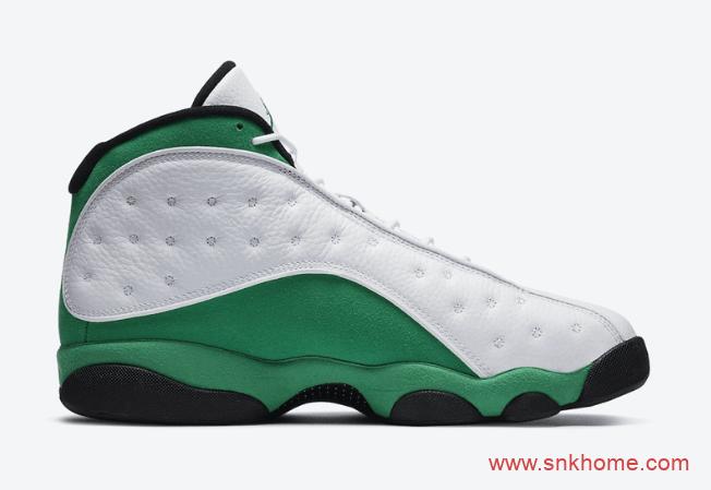 """酷似AJ13雷阿伦 Air Jordan 13 """"Lucky Green"""" AJ13白绿发售日期 货号:DB6537-113-潮流者之家"""
