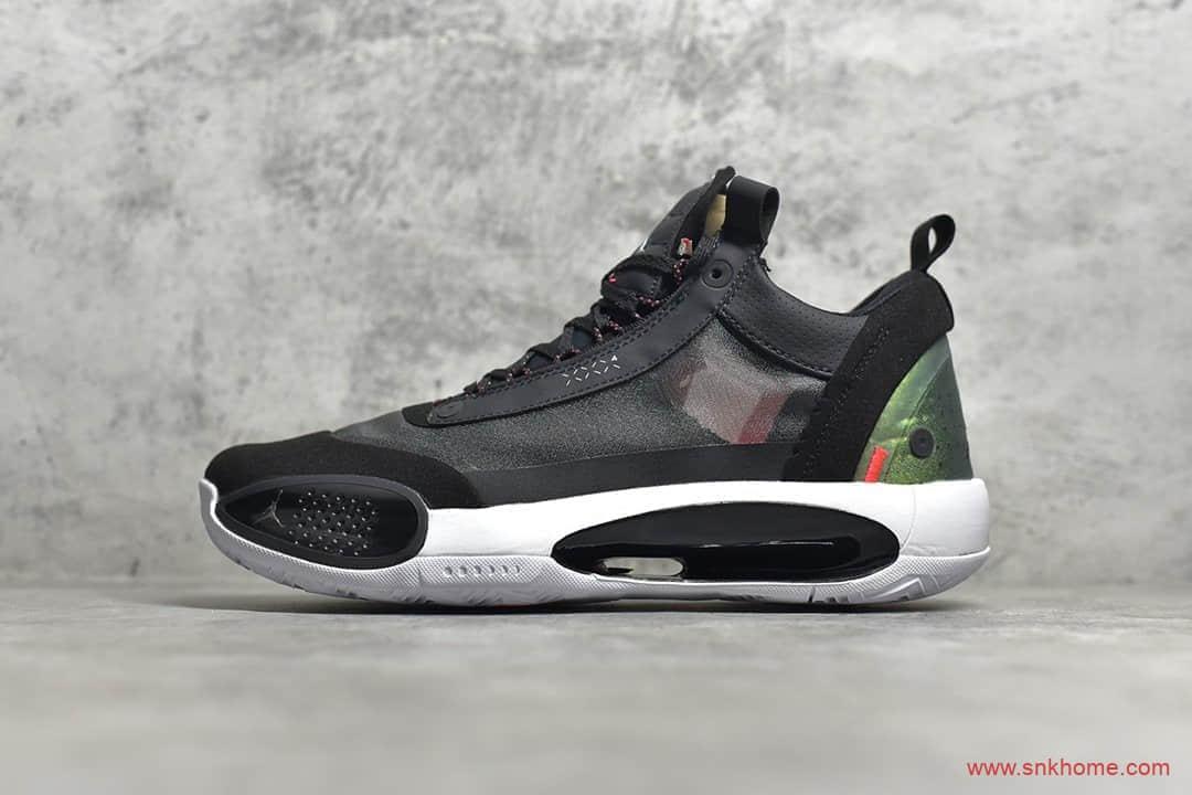 AJ34黑色镭射低帮 AJ34 Heritage 莆田实战篮球鞋灭世纯原 货号:CU3475-001-潮流者之家