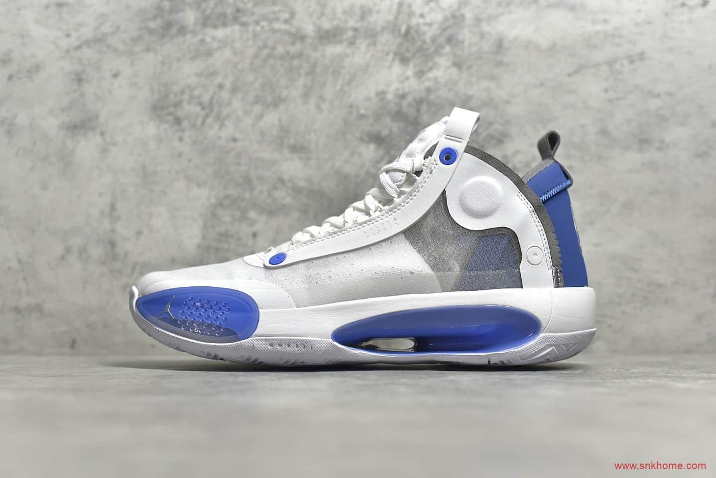AJ34北卡蓝TB特殊蝉翼鞋面 Air Jordan 34 AJ34实战篮球鞋 货号:BQ3381-104-潮流者之家
