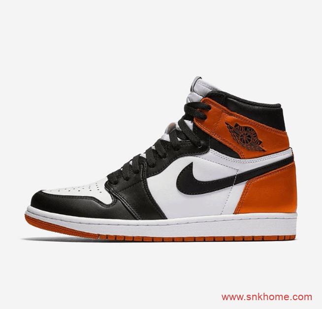 AJ1黑脚趾高帮黑橙配色 Air Jordan 1 High OG 扣碎黑脚趾 AJ1黑橙扣碎高帮发售日期 货号:555088-180-潮流者之家