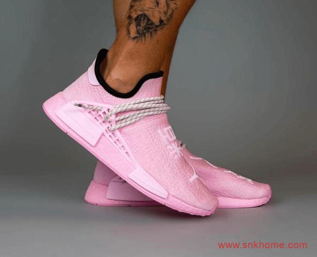 阿迪达斯菲董樱花粉 Pharrell x adidas NMD Hu 阿迪达斯菲董联名新款发售 货号:GY0088-潮流者之家