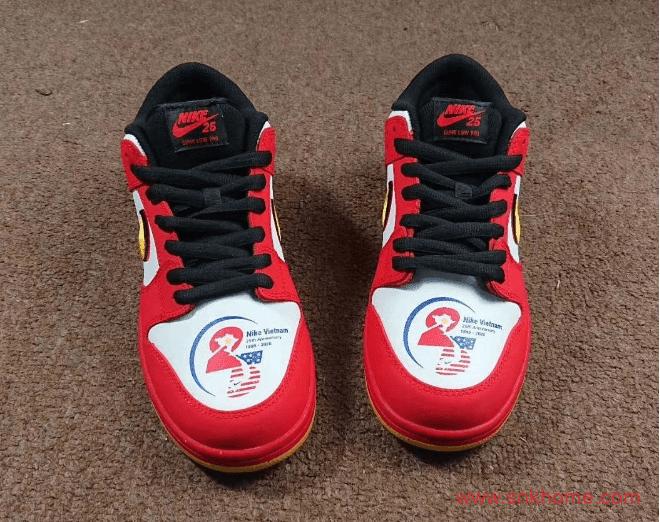 """耐克Dunk越南主题建交25周年纪念款 Nike SB Dunk Low """"Vietnam 25th Anniversary""""  货号:309242-307-潮流者之家"""