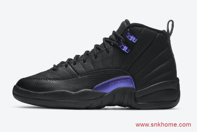 """AJ12电光紫麂皮 Air Jordan 12 """"Dark Concord"""" AJ12黑紫全新配色官图 货号:CT8013-005-潮流者之家"""