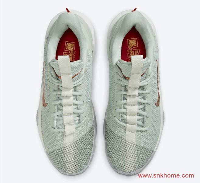 """耐克詹姆斯13代球鞋 实战精品 Nike LeBron Ambassador 13 """"Empire Jade"""" 詹姆斯全新战靴 货号: CQ9329-300-潮流者之家"""