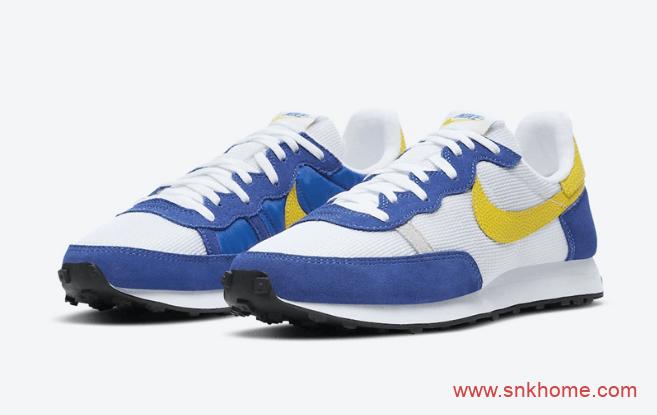"耐克华夫篮球主题Nike Challenger OG ""Peace, Love, and Basketball"" 耐克华夫白蓝跑鞋 货号:DC1413-100-潮流者之家"