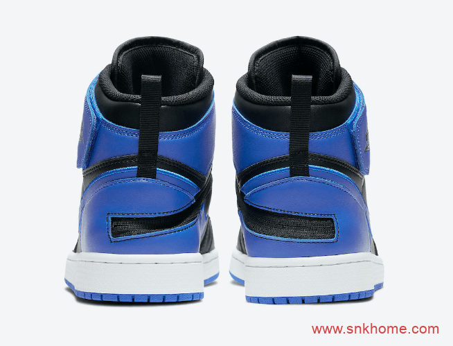 "AJ1黑蓝高帮新款新设计 Air Jordan 1 High FlyEase ""Hyper Royal"" AJ1黑蓝绑带发售日期 货号:CQ3835-041-潮流者之家"