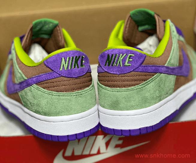 """耐克Dunk丑小鸭低帮 Nike Dunk Low SP """"Veneer"""" Dunk SB棕绿黄拼接翻毛皮新款 货号:DA1469-200-潮流者之家"""