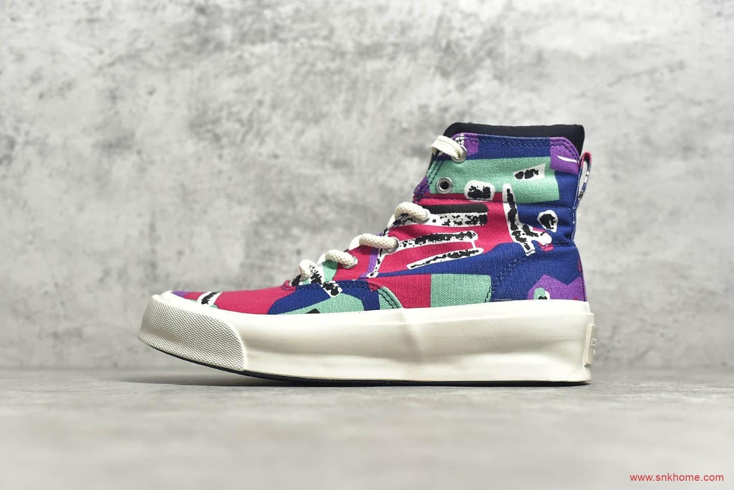 匡威FOG联名涂鸦高帮帆布鞋 Converse x FOG Essentials Skid grop周杰伦欧阳娜娜同款匡威 货号:169888C-潮流者之家