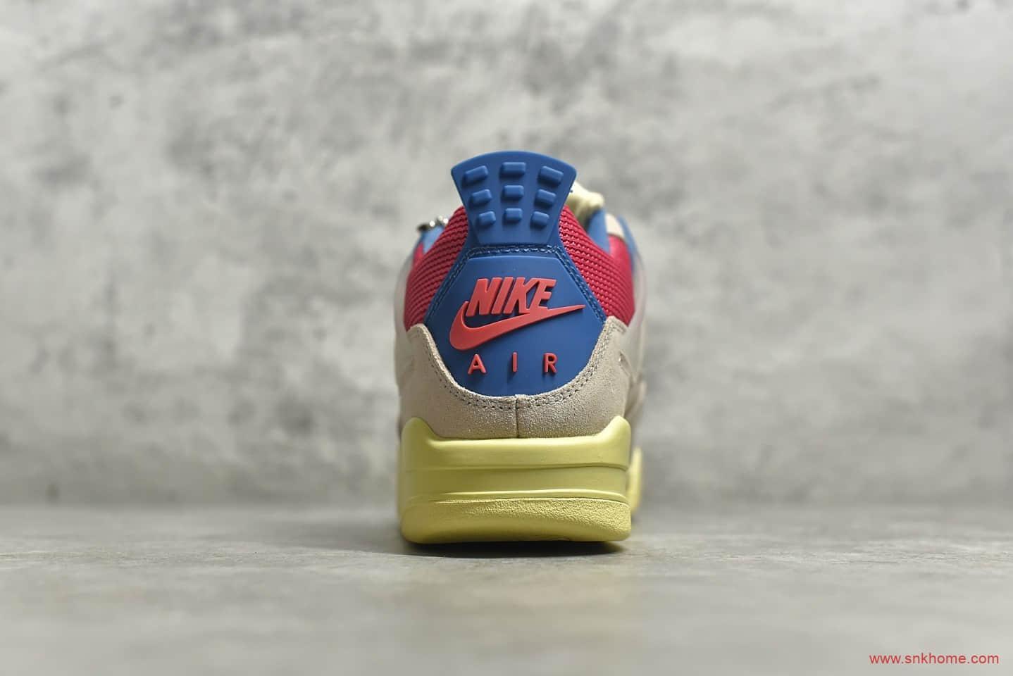 AJ4Union联名粉红蓝配色 Union x Air Jordan 4 AJ4 乔4联名款南海岸粉红蓝篮球鞋 货号:DC9533-800-潮流者之家