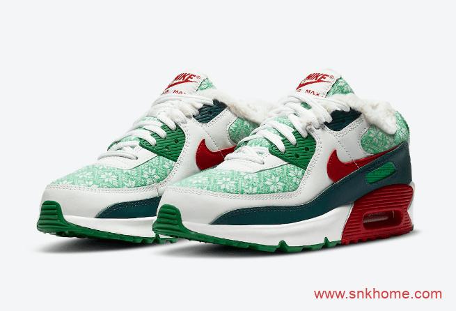 """耐克圣诞节系列 耐克空军雪地靴版本Nike Air Force 1 High """"Christmas"""" 耐克开拓者圣诞节 货号:DC1620-600-潮流者之家"""
