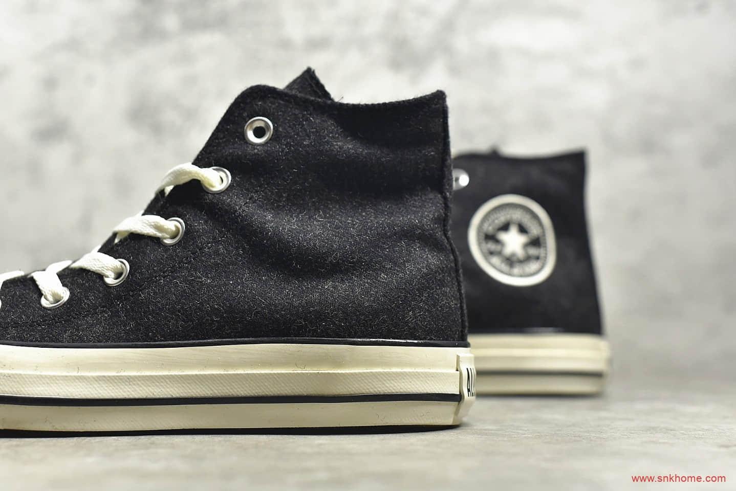 匡威ParadiseKiss日系碳黑色 CONVERSE ParadiseKiss 匡威1970S日系黑色高帮帆布鞋 货号:1CL180-潮流者之家