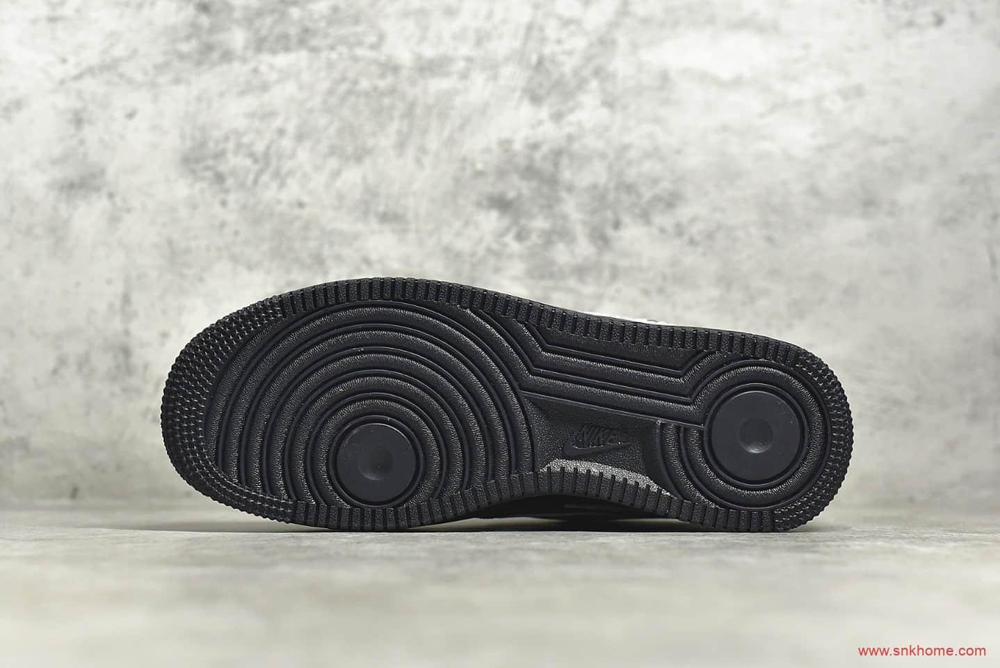 耐克空军一号NBA联名黑色 NIKE AIR FORCE 1 07 LV8 NBA联名 空军一号黑色低帮板鞋 货号:CT2299-001-潮流者之家