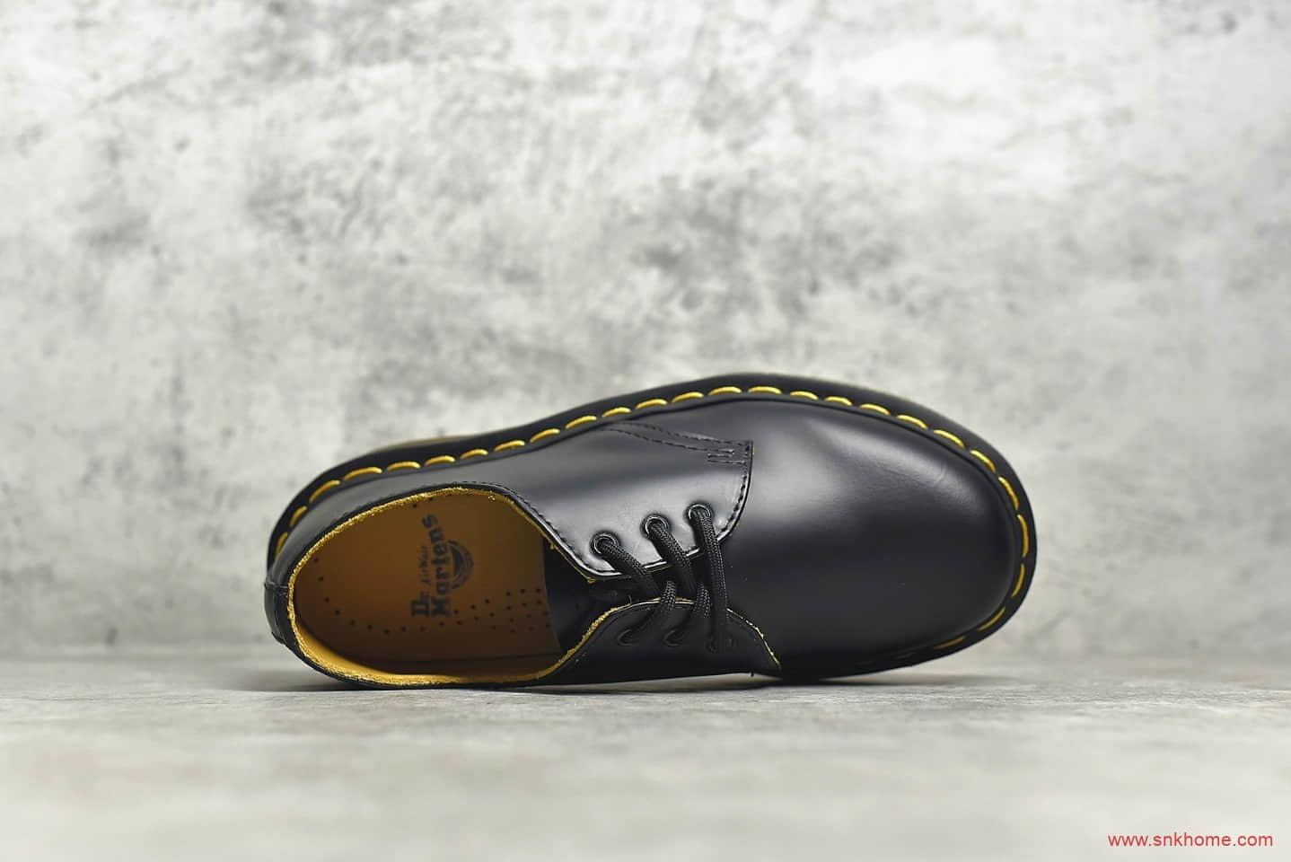 正品马丁医生低帮马丁靴 Dr.martens 1460LL 马丁黑色低帮马丁靴秋冬款 欧阳娜娜同款马丁靴-潮流者之家