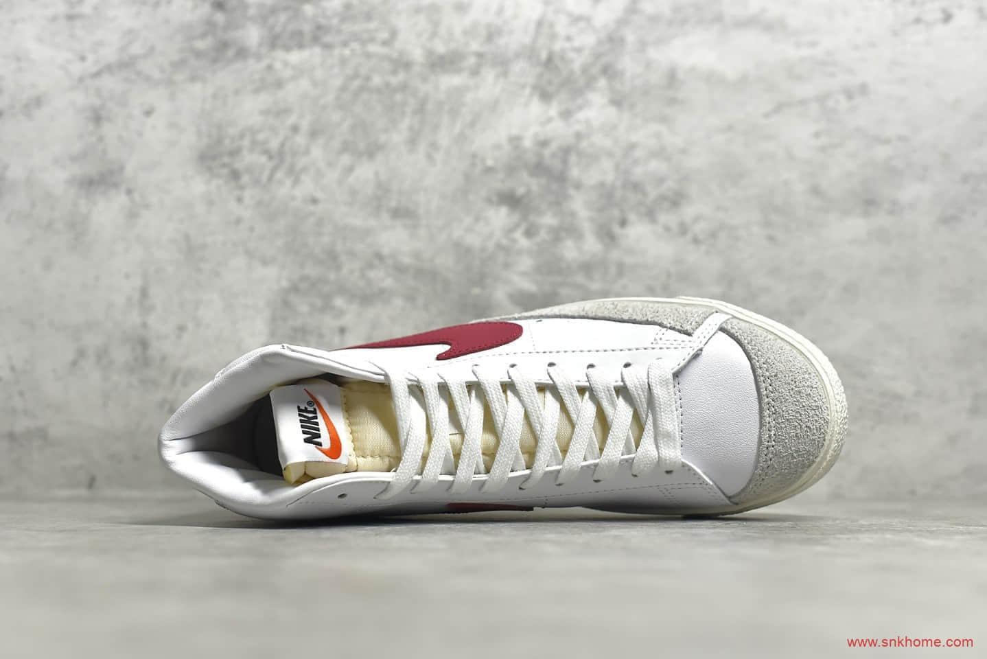 耐克开拓者白红高帮 NIKE ZOOM BLAZER MID 耐克硫化板鞋 权志龙同款耐克开拓者 货号:BQ6806-102-潮流者之家