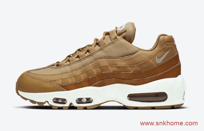 """耐克MAX95小麦 Nike Air Max 95 WMNS """"Wheat"""" 耐克气垫老爹鞋新款发售日期-潮流者之家"""