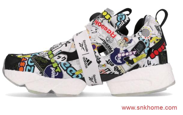 "Reebok Instapump Fury Boost ""Sticker City"" 锐步阿迪达斯联名充气鞋BOOST新款发售 货号:G57659-潮流者之家"