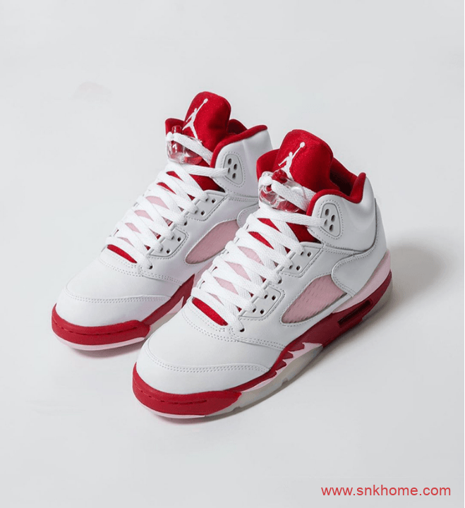 AJ5白红粉仙女配色 Air Jordan 5 Retro GS