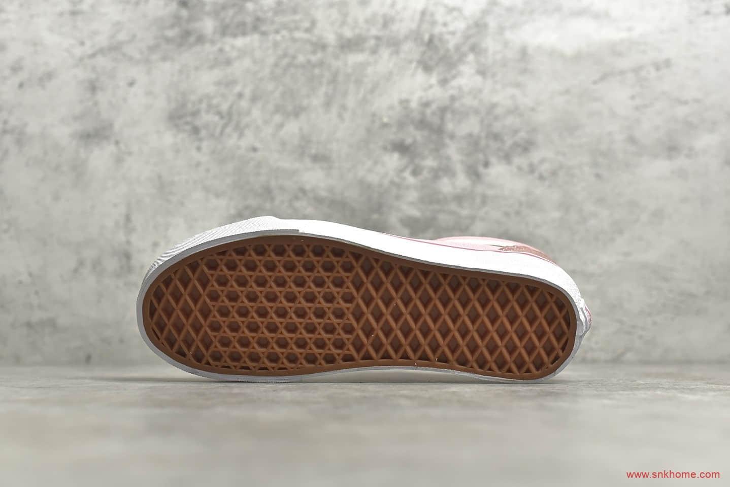 万斯经典麂皮帆布 公司级版本万斯经典粉色低帮帆布鞋 莆田万斯货源-潮流者之家