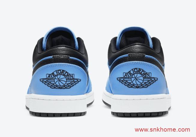 "AJ1蓝黑低帮 Air Jordan 1 Low ""University Blue"" 经典AJ1低帮新配色发售日期 货号:553558-403-潮流者之家"