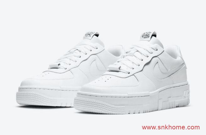 耐克空军一号不对称鞋盒设计解构鞋 Nike Air Force 1 Pixel 耐克空军小白鞋官图 货号:CK6649-100-潮流者之家