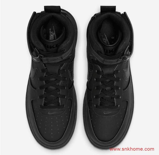 耐克空军全黑色高帮 Nike Air Force 1 High Winter 空军一号黑武士造型官图 货号:DA0418-001-潮流者之家