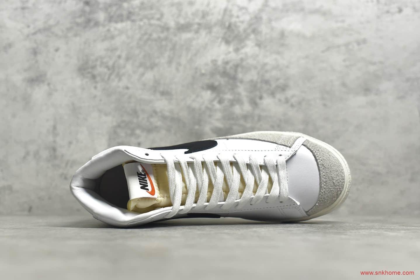 耐克开拓者白黑高帮 NIKE ZOOM BLAZER MID 耐克小白鞋高帮纯原版本 货号:CZ0376-500-潮流者之家