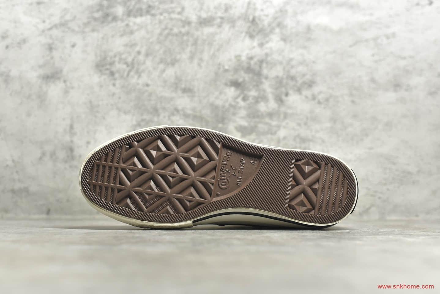 匡威1970S卡其色高帮 CONVERSE 1970S 匡威加绒秋冬款帆布鞋 货号:161040C-潮流者之家