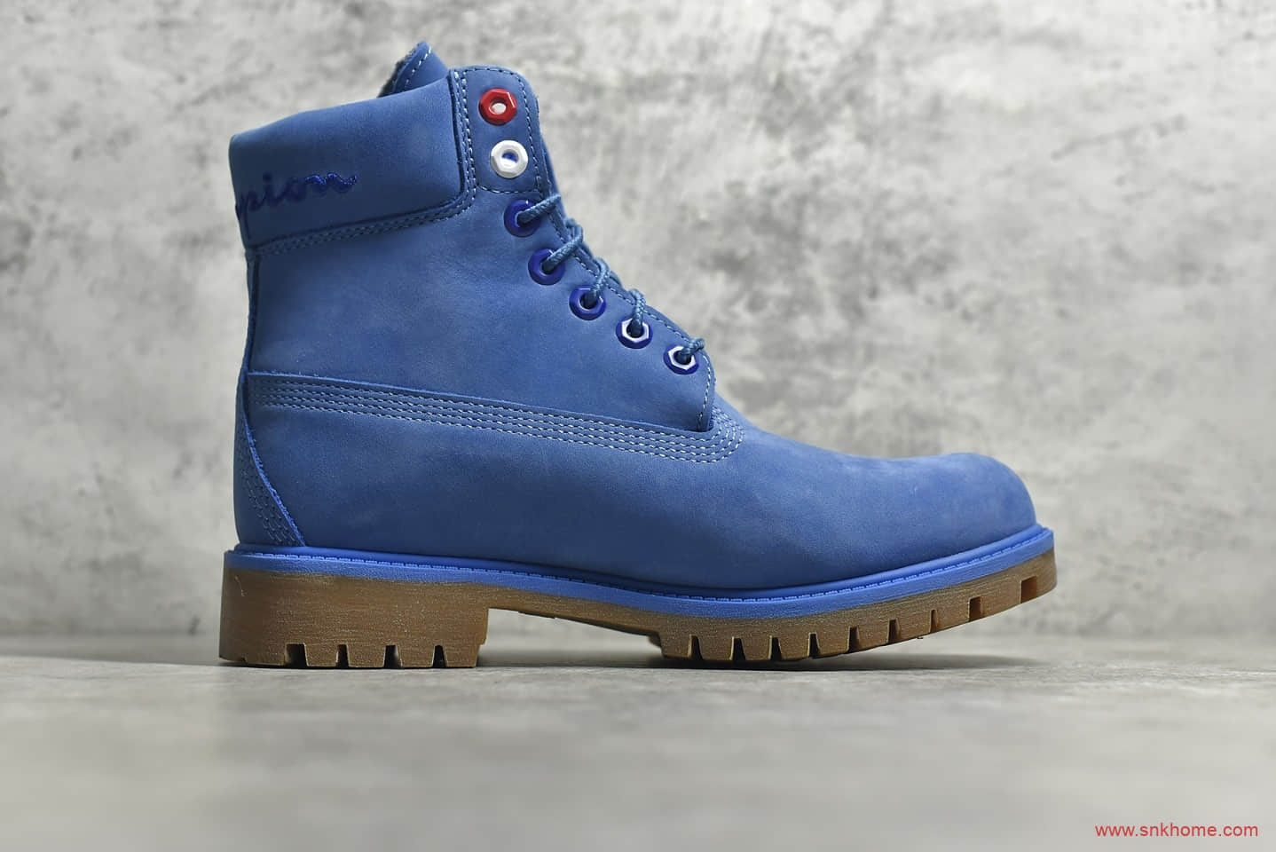 天伯伦蓝色卫冕冠军联名款Timberland x Champion 蓝色天伯伦 天伯伦高帮马丁靴-潮流者之家