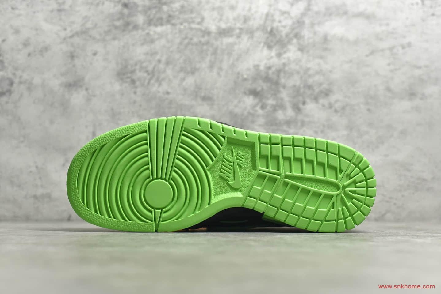 耐克Dunk SB OW联名款黑绿色 Off-White x NIKE Air Rubber Dunk