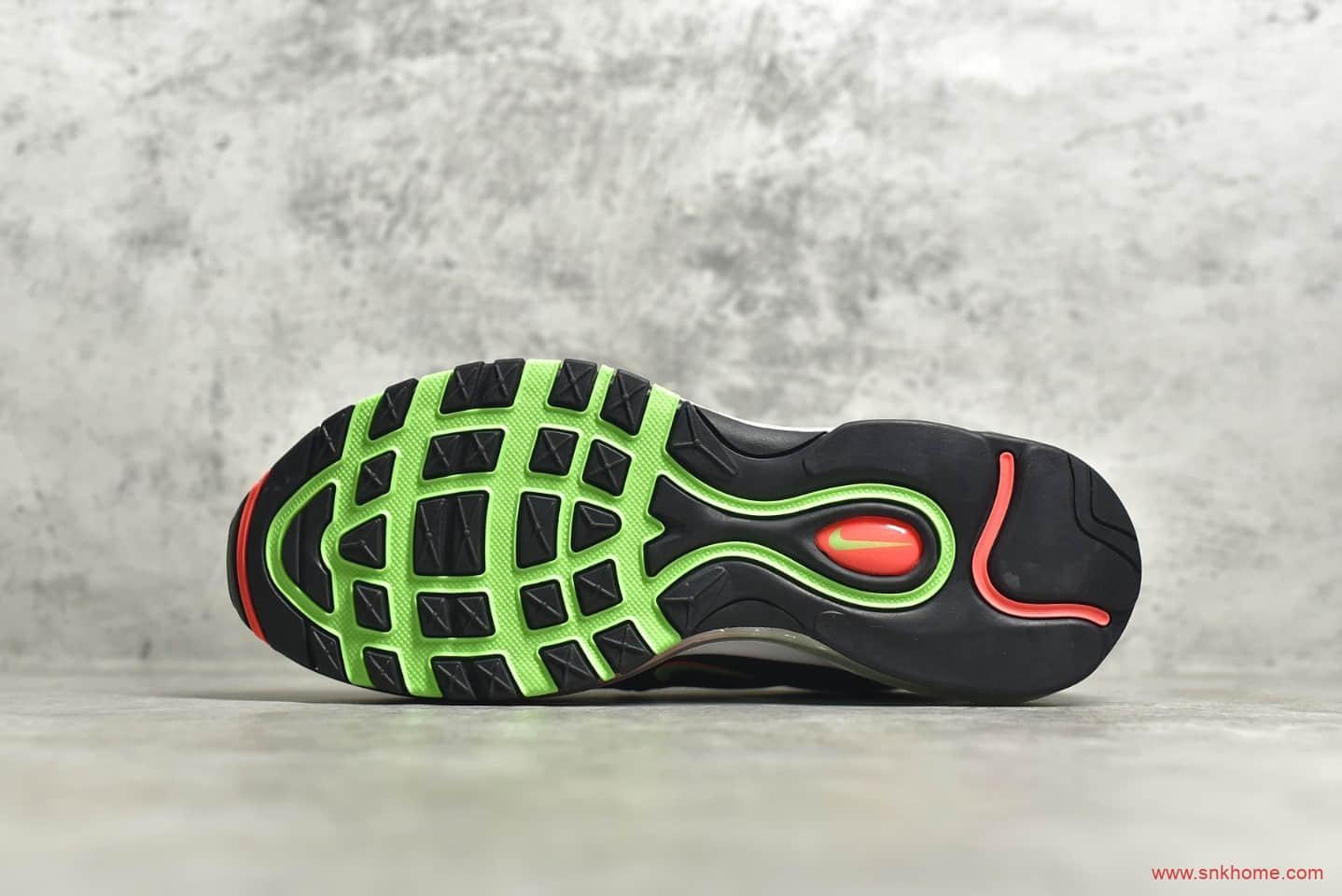 """耐克MAX97子弹气垫黑色反光CJ纯原版本 NIKE Wmns Air Max 97 """"Worldwide"""" 耐克复古气垫百搭休闲鞋 货号:CZ5607-001-潮流者之家"""