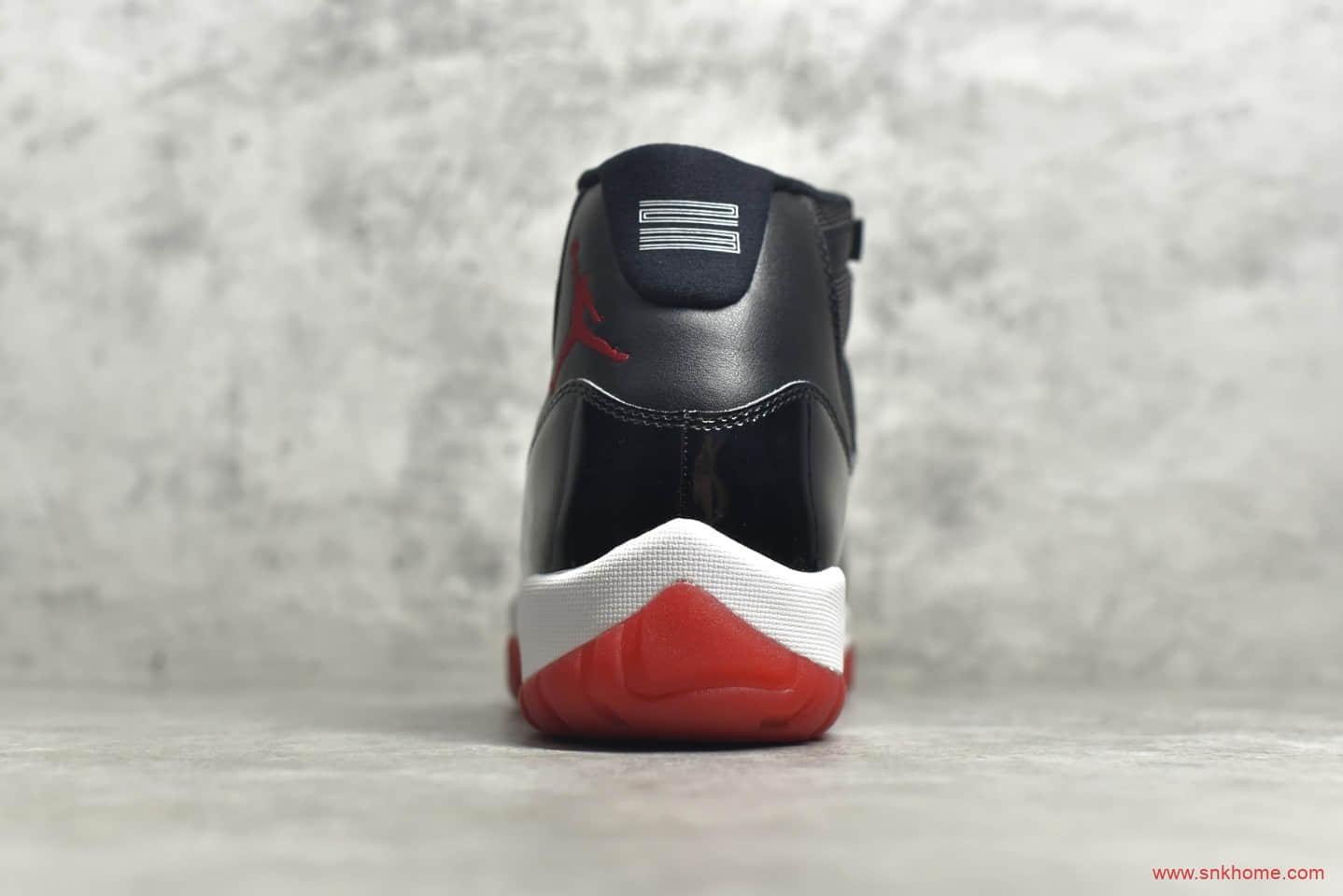 """耐克AJ11大魔王复刻H12纯原版本 Air Jordan 11 """"Concord""""AJ11大魔王黑红2019复刻款 货号:378037-061-潮流者之家"""